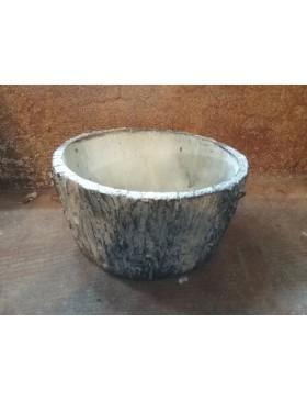 Pot céramique imitation bois